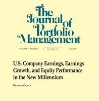The Journal of Portfolio Management Publication